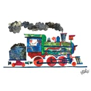 Marmont Hill 'Steam Train 2' by Eric Carle Painting Print on Wrapped Canvas; 16'' H x 24'' W
