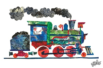 Marmont Hill 'Steam Train 2' by Eric Carle Painting Print on Wrapped Canvas; 30'' H x 45'' W