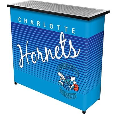Trademark Global NBA NBA8000HC-CH Portable Bar with Case, Charlotte Hornets