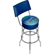 Trademark Global NBA Hardwood Classics NBA1100HC-CH Steel Bar Stool with Back, Charlotte Hornets