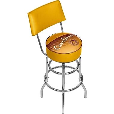 Trademark Global NBA Hardwood Classics NBA1100HC-CC Steel Bar Stool with Back, Cleveland Cavaliers