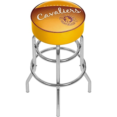 Trademark Global NBA 31'' Novelty Swiveling Base Padded Bar Stool, Yellow (886511604926)