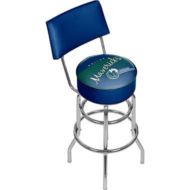 Trademark Global NBA 41.75'' Modern Swiveling Base Padded Bar Stool, Chrome (886511605237)