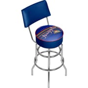 Trademark Global NBA Hardwood Classics NBA1100HC-DN Steel Bar Stool with Back, Denver Nuggets