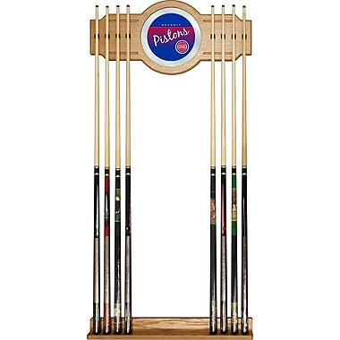 Trademark Global NBA NBA6000HC-DP Cue Rack with Mirror, Detroit Pistons