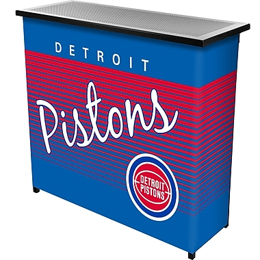 Trademark Global NBA NBA8000HC-DP Portable Bar with Case, Detroit Pistons