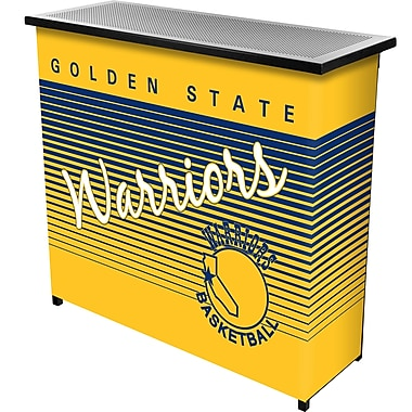 Trademark Global NBA NBA8000HC-GSW Portable Bar with Case, Golden State Warriors