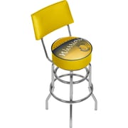 Trademark Global NBA Hardwood Classics NBA1100HC-GSW Steel Bar Stool with Back, Golden State Warriors