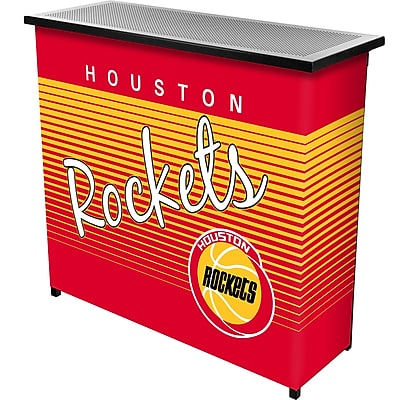 Trademark Global NBA NBA8000HC-HR Portable Bar with Case; Houston Rockets