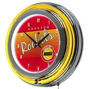 "Trademark Global NBA Hardwood Classics NBA1400HC-HR 14.5"" Red Double Ring Neon Clock, Houston Rockets"