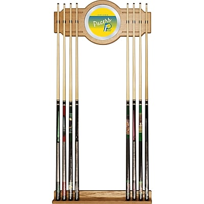 Trademark Global NBA NBA6000HC-IP Cue Rack with Mirror, Indiana Pacers