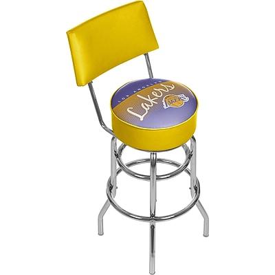 Trademark Global NBA 41.75'' Modern Swiveling Base Padded Bar Stool, Chrome (886511605299)