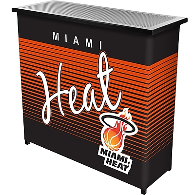 Trademark Global NBA NBA8000HC-MH Portable Bar with Case; Miami Heat
