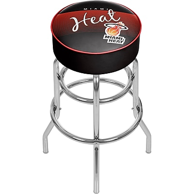 Trademark Global NBA Hardwood Classics NBA1000HC-MH Steel Padded Swivel Bar Stool, Miami Heat