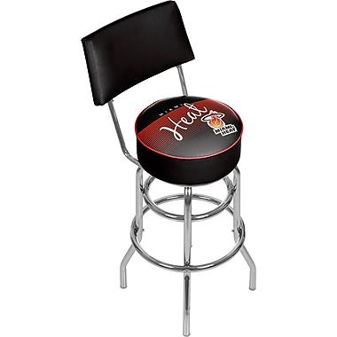 Trademark Global NBA Hardwood Classics NBA1100HC-MH Steel Bar Stool with Back, Miami Heat