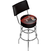 Trademark Global NBA Hardwood Classics NBA1100HC-MH Steel Bar Stool with Back, Miami Heat