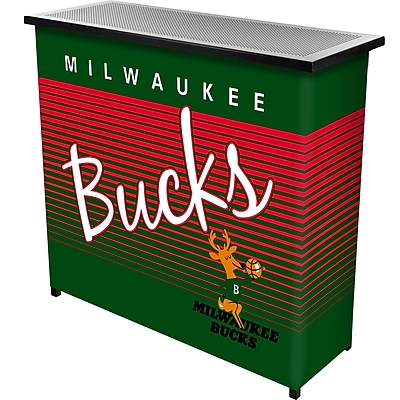 Trademark Global NBA NBA8000HC-MB Portable Bar with Case; Milwaukee Bucks