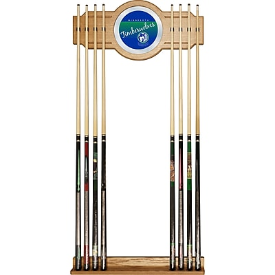 Trademark Global NBA NBA6000HC-MT Cue Rack with Mirror, Minnesota Timberwolves