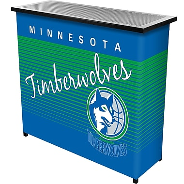 Trademark Global NBA NBA8000HC-MT Portable Bar with Case, Minnesota Timberwolves
