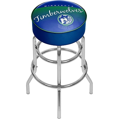Trademark Global NBA 31'' Novelty Swiveling Base Padded Bar Stool, Blue (886511605176)