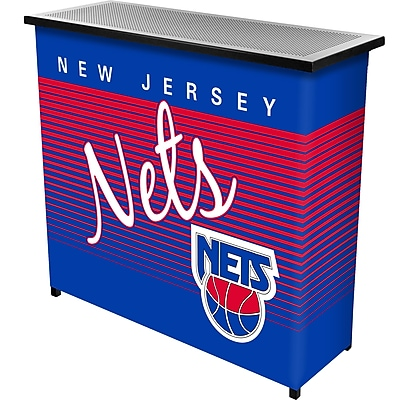 Trademark Global NBA NBA8000HC-NJN Portable Bar with Case; New Jersey Nets