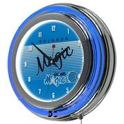 "Trademark Global NBA Hardwood Classics NBA1400HC-OM 14.5"" Blue Double Ring Neon Clock, Orlando Magic"