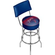 Trademark Global NBA Hardwood Classics NBA1100HC-P76 Steel Bar Stool with Back, Philadelphia 76ers