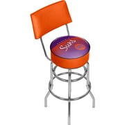 Trademark Global NBA Hardwood Classics NBA1100HC-PS Steel Bar Stool with Back, Phoenix Suns