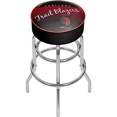 Trademark Global NBA 31'' Modern Swiveling Base Padded Bar Stool, Black (886511605084)