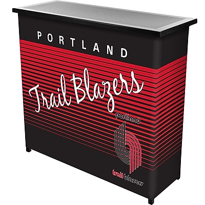 Trademark Global NBA NBA8000HC-PTB Portable Bar with Case, Portland Trailblazers