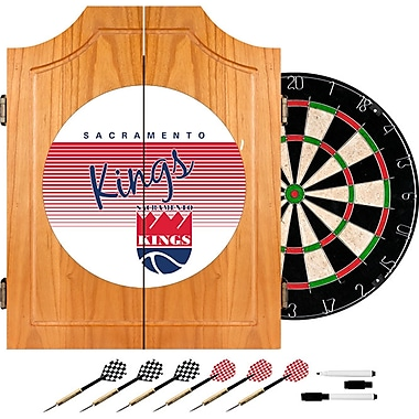 Trademark Global NBA NBA7000HC-SK Wood Dart Cabinet Set, Sacramento Kings