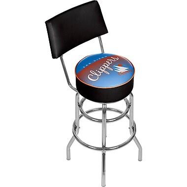 Trademark Global NBA 41.75'' Modern Swiveling Base Padded Bar Stool, Chrome (886511605404)