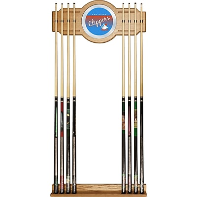 Trademark Global NBA NBA6000HC-SDC Cue Rack with Mirror, San Diego Clippers