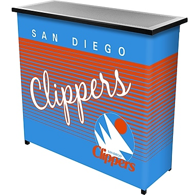 Trademark Global NBA NBA8000HC-SDC Portable Bar with Case, San Diego Clippers