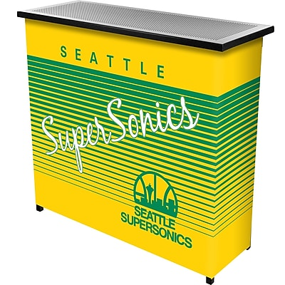 Trademark Global NBA NBA8000HC-SSS Portable Bar with Case; Seattle Super Sonics