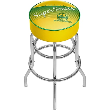 Trademark Global NBA 31'' Novelty Swiveling Base Padded Bar Stool, Yellow (886511605121)