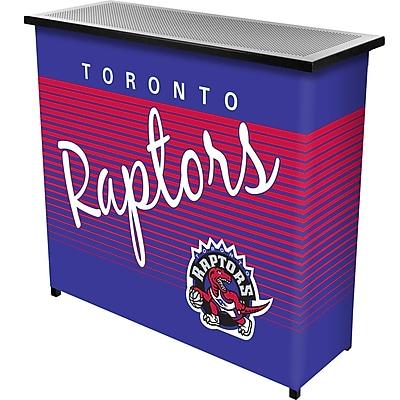 Trademark Global NBA NBA8000HC-TR Portable Bar with Case; Toronto Raptors