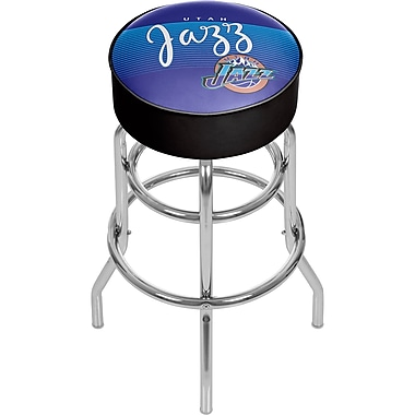 Trademark Global NBA 31'' Novelty Swiveling Base Padded Bar Stool, Purple (886511605145)