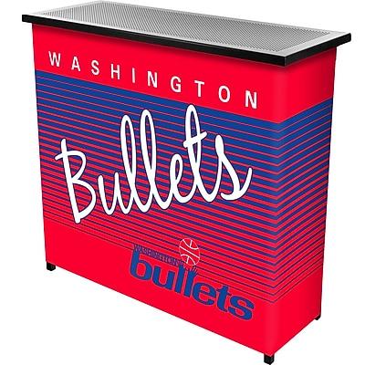 Trademark Global NBA NBA8000HC-WB Portable Bar with Case, Washington Bullets