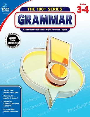 Carson-Dellosa The 100+ Series Grammar Book for Grade 3 to 4