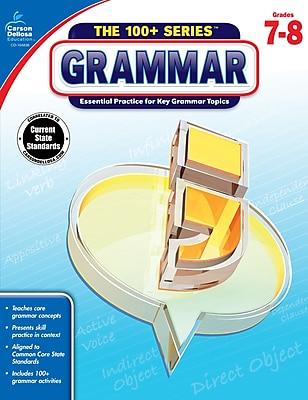 Carson-Dellosa The 100+ Series Grammar Book for Grades 7 to 8