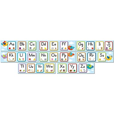 Carson-Dellosa Boho Birds Alphabet Bulletin Board Set, 8 Pieces/Set