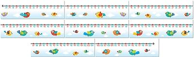 Carson-Dellosa Boho Birds Number Line Bulletin Board Set, 8 Pieces/Set