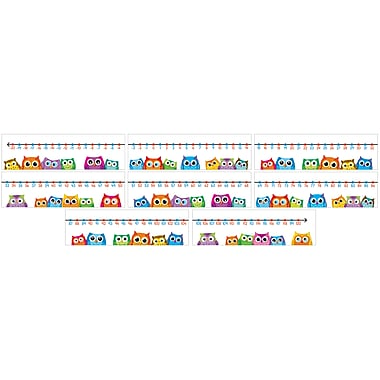 Carson-Dellosa Colorful Owls Number Line Bulletin Board Set (110266)
