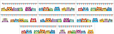 Carson-Dellosa Colorful Owls Number Line Bulletin Board Set, 8 Pieces/Set