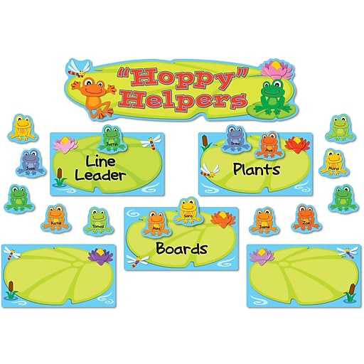 Carson-Dellosa Funky Frogs Job Assignment Bulletin Board Set, 41 Pieces/Set