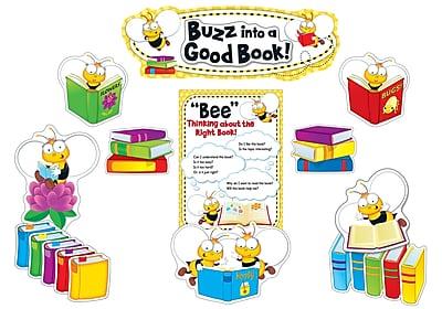 Carson-Dellosa Buzz Worthy Bees Reading Bulletin Board Set, 45 Pieces/Set