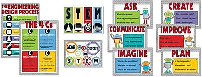 Carson-Dellosa STEM Bulletin Board Set, 10 Pieces/Set