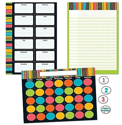 Carson-Dellosa Stylin' Stripes Bulletin Board Set, 40 Pieces/Set