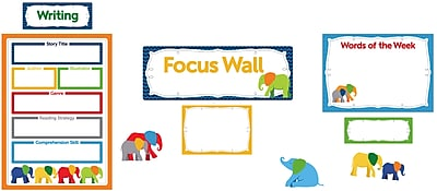 Carson-Dellosa Parade of Elephants Focus Wall Bulletin Board Set, 22 Pieces/Set